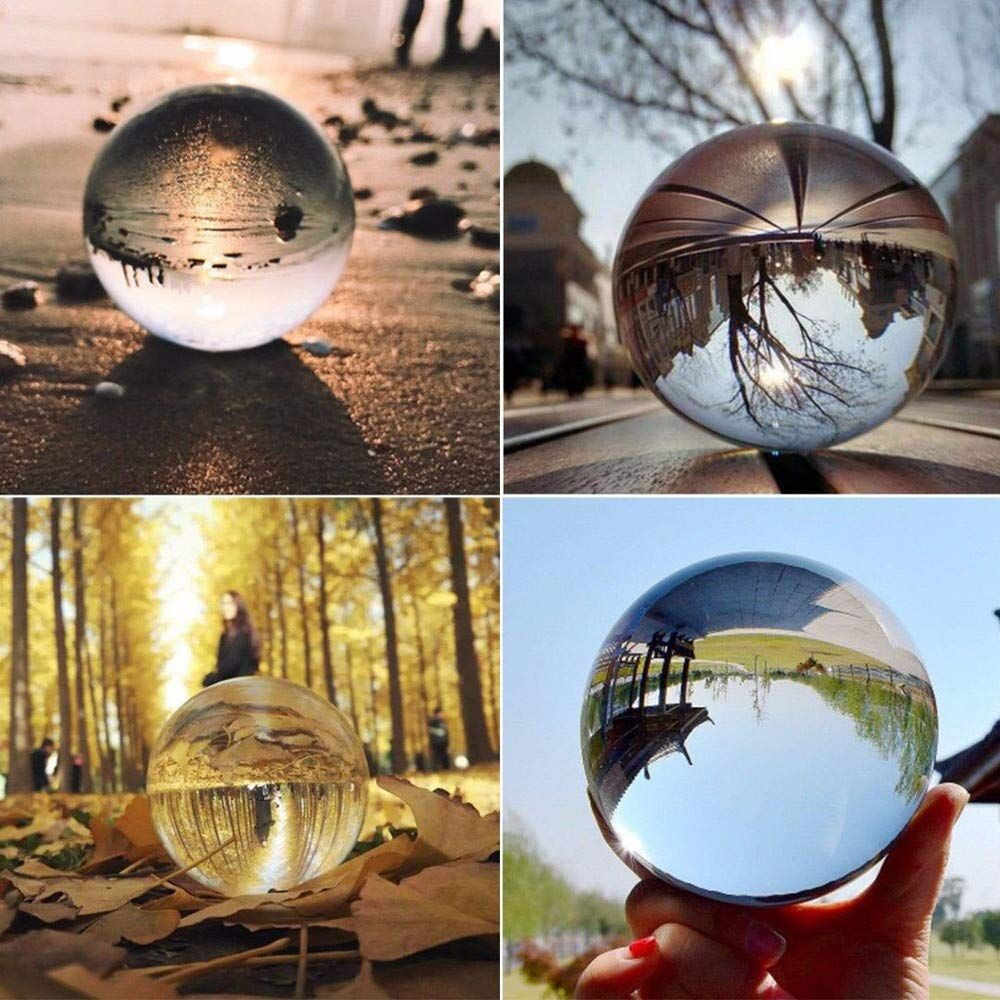 Clear Glass Crystal Ball Healing Sphere Photography Props Lensball Decor Gift Decoration Crafts Figurines
