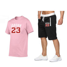 Traje deportivo de manga corta para hombre, Camiseta deportiva, pantalones cortos, novedad de 2021