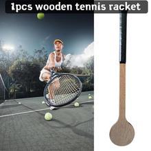 Racket Spoon Tennis Sport-Accessories Outdoor-Supplies Wooden Long-Handle Creative Indoor