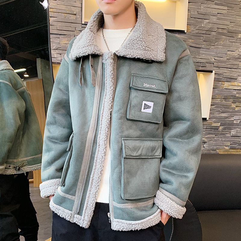 VERSMA Korean Style Clothing Men Thick Jacket With Fur Collar Men Winter Hip Hop Retro Youth Jackets Large Size Parkas Male 5XL