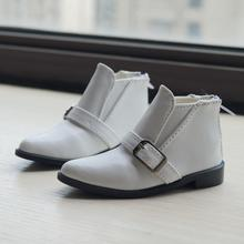 BJD White Short Boots Bussiness Shoes Flats Synthetic Leather For 70cm Tall SD17 Male DK DZ AOD DD Doll