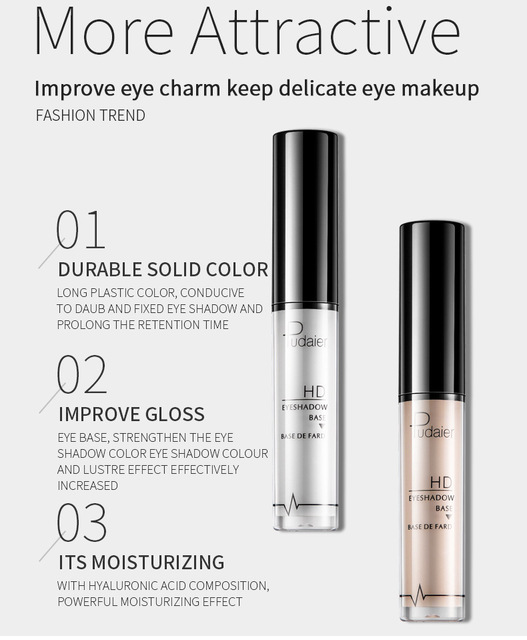 Pudaier Eyeshadow Primer Eyes Base Waterproof Cream Makeup Primer Gel Eye Under Shadow Cosmetic Lasting Prolong Base Primer 3