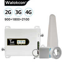 2019 nueva actualización celular amplificador repetidor GSM 2g 3g 4g GSM 900 4G LTE 1800 3G UMTS WCDMA 2100 MHz amplificador de señal móvil 70dB @