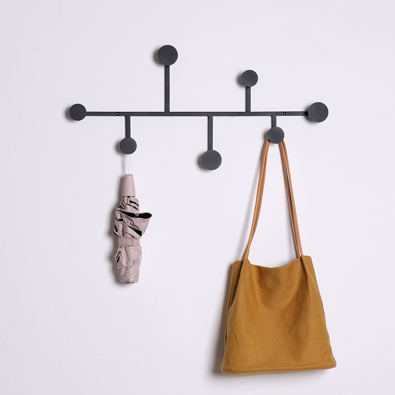Iron Wall Mounted Racks Home Decor Furniture Coat Rack Hat Clothes Hanger Kitchen Wall Brack Hanging/Simple style