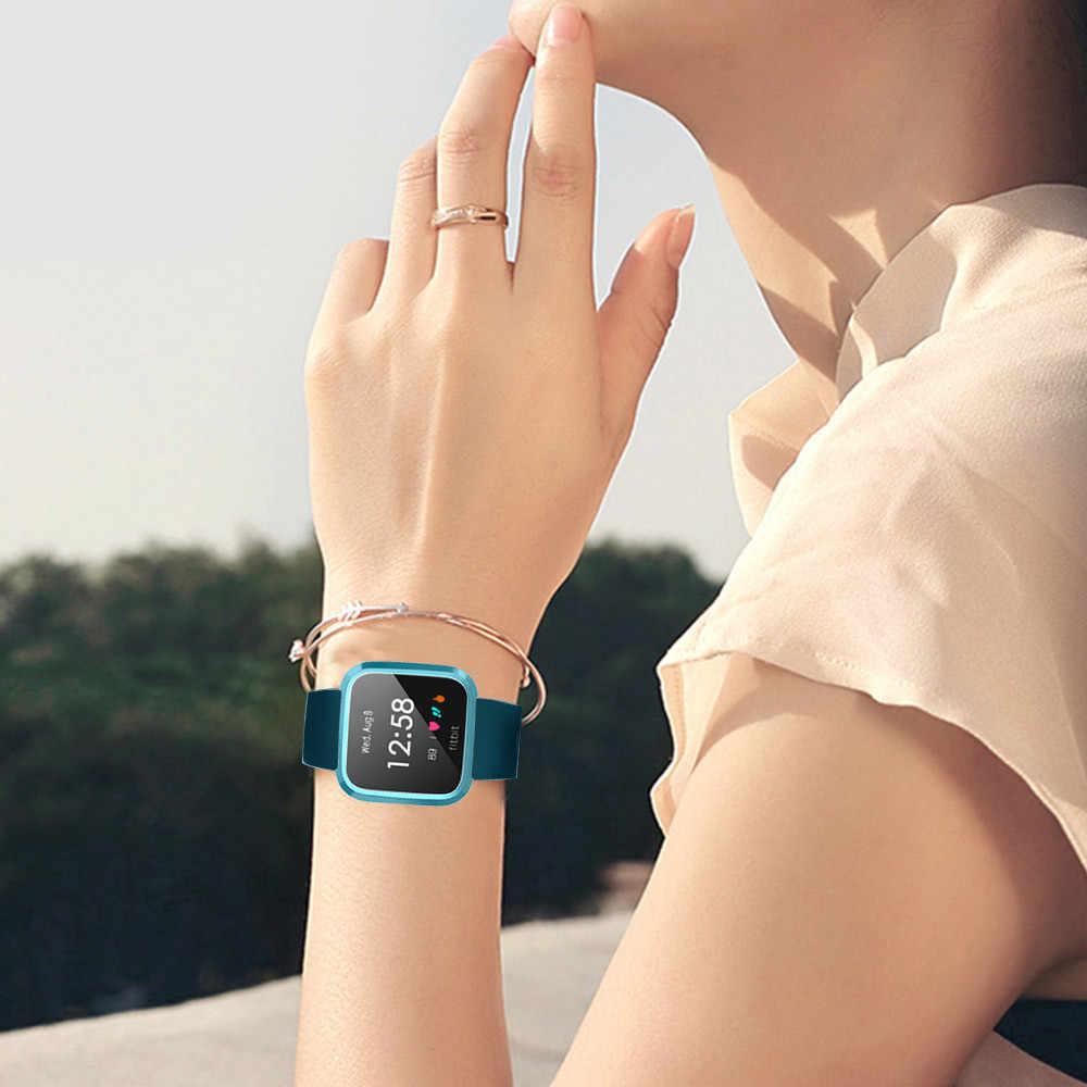 بالكهرباء لينة علبة حماية من البولي يوريثين الحراري غطاء ل Fitbit فيرسا لايت ساعة ذكية ل ساعة ذكية اكسسوارات صندوق واقي 2019