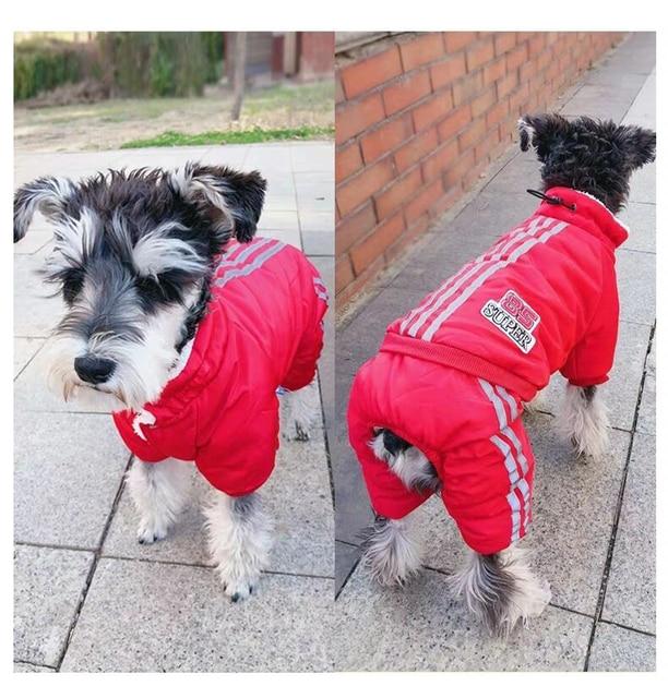 Warm Winter Dog Jumpsuits 4