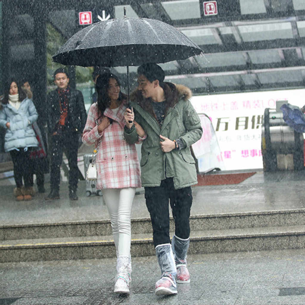 Jas Hujan Transparan Hujan Luar Ruangan Tahan Air Hujan Sepatu Covers Anti-Slip Bersepeda Overshoes Dapat Didaur Ulang Penutup Sepatu