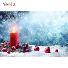 Yeele Christmas Backdrop Winter Snow Tree Candle Newborn Baby Photography Background For Photo Studio Photobooth Photophone