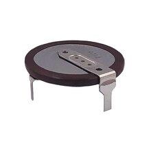 Bateria recarregável vl2020, com 2 pinos vertical, pernas de 90 graus, baterias de lítio tipo moeda vl 2020 para controle remoto de bmw chave chave,