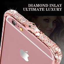 Luxury Bling Full Crystal border Phone Case For iphone X 8 7 6 6S Plus XR XS MAX  For iPhone 5 5s se Diamond Phone Case Cover black cover japanese samurai for iphone x xr xs max for iphone 8 7 6 6s plus 5s 5 se super bright glossy phone case