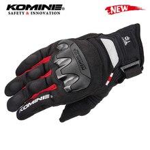 Мотоциклетные хлопковые перчатки KOMINE для мужчин, дышащие защитные перчатки для езды на мотоцикле, с сенсорным экраном, XXL