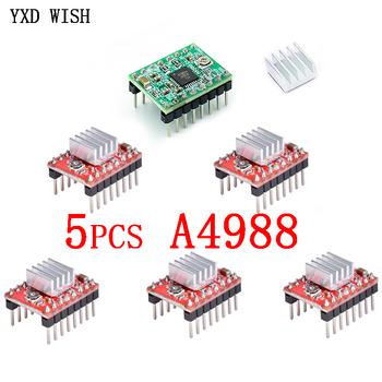 5pcs A4988 StepStick Stepper Driver + Heat sink For Reprap 3D Printer Parts Red Motor With Heatsink Accessorie - discount item  30% OFF Electrical Equipment & Supplies