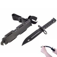 Caja de seguridad 1: 1 cuchillo de goma formación militar, los entusiastas del CS Cosplay espada de juguete primera sangre accesorios daga modelo P31B