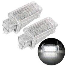 Gövde lamba LED iç lamba hoşgeldiniz işık 6500K beyaz 12V araba LED kapı projektör ışık Audi A3/A4/A6/VW 2 adet/takım