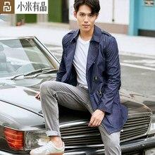 Youpin dmn homem clássico à prova de chuva cowboy blusão masculino primavera outono solto jaqueta jeans casaco lazer outerwear luz quente