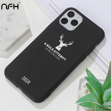 Luxury Christmas Deer Soft Silicone Case For iPhone 11 Pro XR Xs Max SE 2020 6 6S 7 8 Plus Ultra Thin TPU Matte Back Cover Shell protective phone back case for iphone 6 6s ultra thin tpu soft mobile shell with pattern