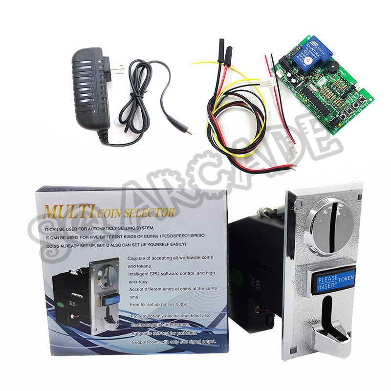 Kit Coin Acceptor With Timer Board Cpu Comparable Multi Selector Support 1-6 Kinds Of Insert