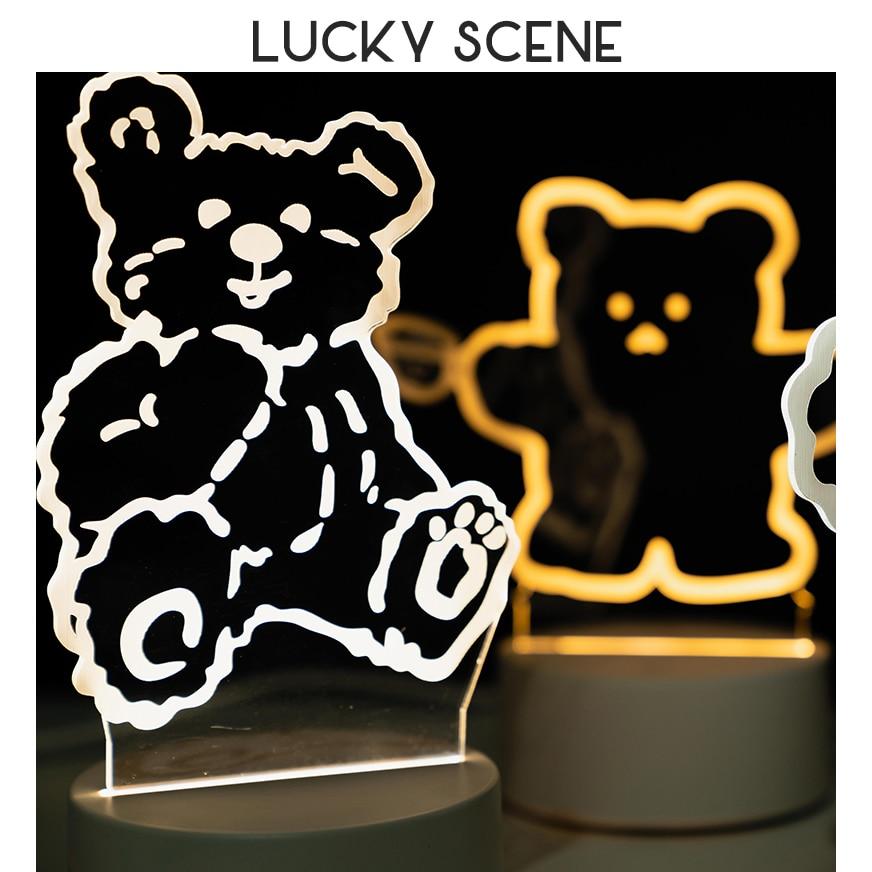 Lampe de chevet en 3d pour fille S01088, petit format, design créatif et chaleureux, idéal comme cadeau