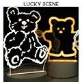 Маленький мультяшный 3d ночсветильник проекция креативная теплая девушка мечта прикроватная лампа подарок S01088