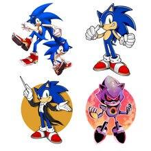 Cartone animato per SEGA Sonic The Hedgehog Logo Vintage adesivo personalità adesivi per auto accessori per auto impermeabili decalcomanie per casco