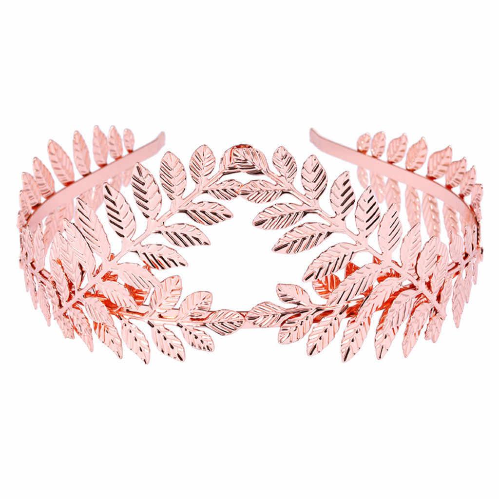 Doble hoja de oro diademas para el pelo de la boda accesorios para el cabello de novia coronas tiaras doradas joyería de la cabeza de la frente