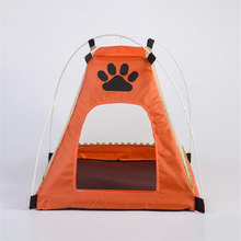 Summer Kennel Cattery Oxford Mesh Kennel Cat Dog Tent Cartoon Foot House Creative Dog Bed Cat Bed Pet Supplies & Pet cartoon kennel pet supplies s m l size animal house circular cartoon dog kennel cat kennels all removable and washable dog mat