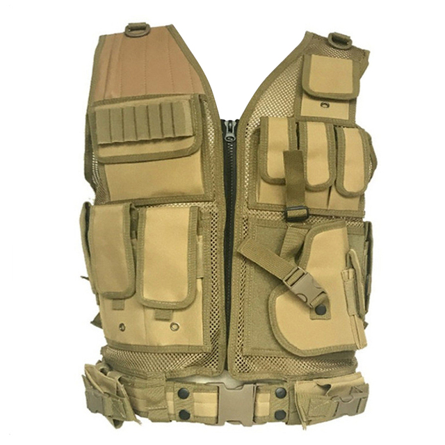 Army Tactical Equipment Military Molle Vest Hunting Armor Vest Airsoft Gear Paintball Combat Protective Vest For CS Wargame 8 4