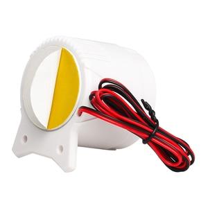 Image 5 - Blanco 120DB DC12V Mini cuerno de sirena con cable inalámbrico sistema de seguridad de alarma para el hogar Accesorios alarma 59cm longitud de línea