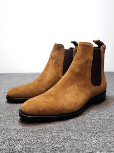 ZYYZYM Chelsea Boots Men Shoes Suede Classic-Style Autumn Hombre High-Help Fashion Spring
