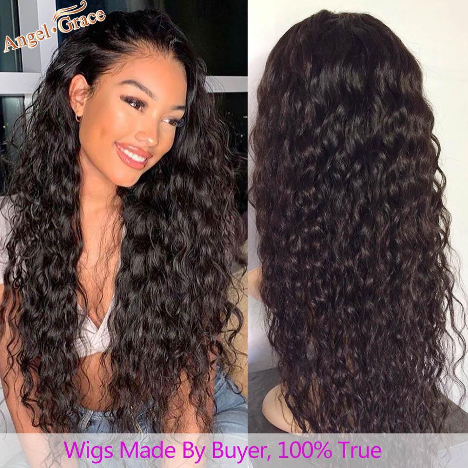 H83fa63114ffe454fb93349df4ca38a3c4 AngelGrace Hair Water Wave Bundles With Closure Remy Human Hair 3 Bundles With Closure Brazilian Hair Weave Bundles With Closure
