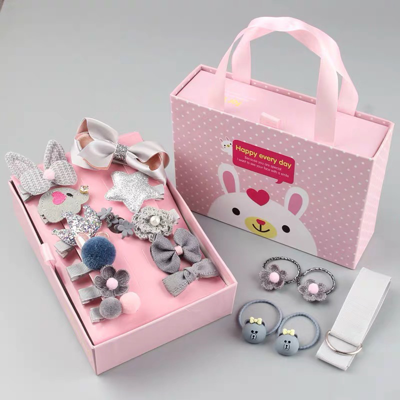 Princess Box Baby Headbands For Girls Handmade Sweet Birthday Gift Headband Cartton Hair Pins Clips For Girls Hair Accessories