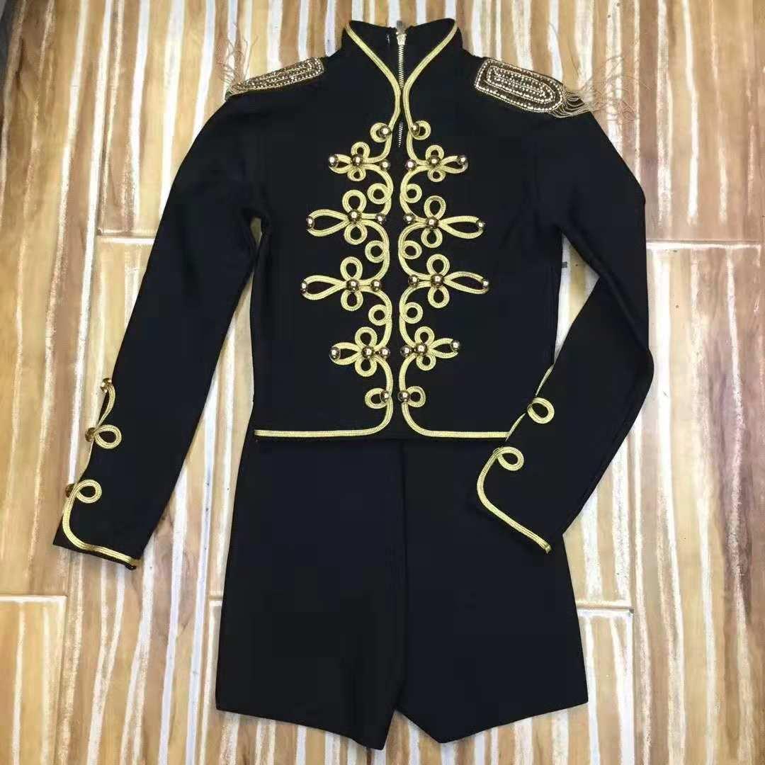 Chaqueta corta Retro mujer ropa Empire 2019 Otoño Invierno Lady Jacket Coat - 5