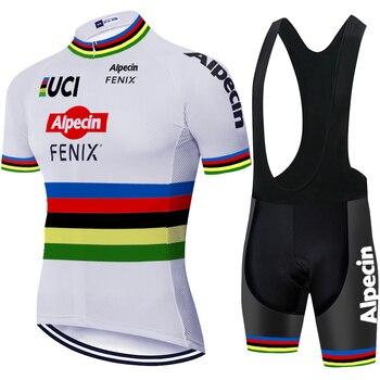 Alpecin fenix-pantalones cortos de ciclismo para hombre, camisetas de secado rápido, Maillot,...