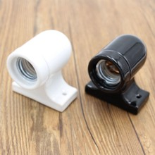 Wall Ceramic Lamp Holder Vintage E27 Porcelain Bulb Lamp Socket For Wall Light Fixtures(China)