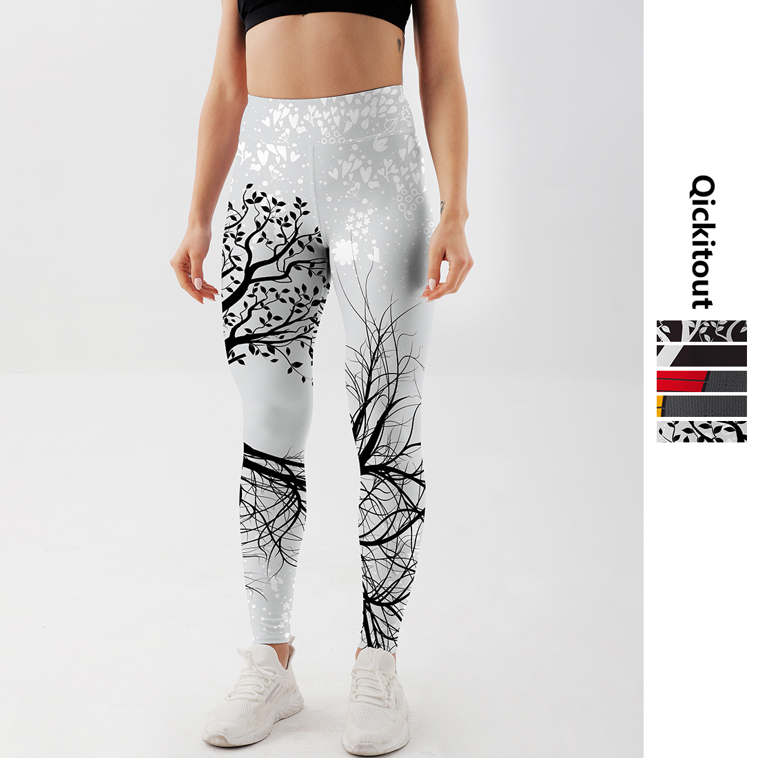 Qickitout Leggings Hot Sell Women's Skull&flower Black Leggings Digital Print Pants Trousers Stretch Pants Plus Size|leggings hot|black leggingsleggings plus - AliExpress