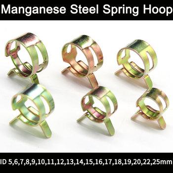 10 sztuk ze stali manganowej sprężyny Hoop nacisk dłoni kolor galwanizowany elastyczny Hoop Hoop Hoop fajka wodna Hoop tanie i dobre opinie NONE CN (pochodzenie) hydrauliczny Metal Brak Standardowy Ścisk stolarski typu G ZACISK RURY Manganese steel 5-25mm