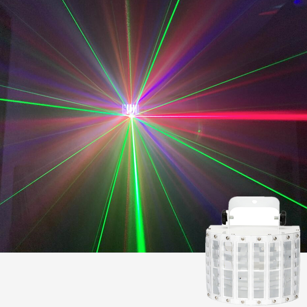 Remote Control RGBW Mini LED Butteryfly With Laser Flower Soward Effect Light Professional For Home Entertain Disco Party Hot