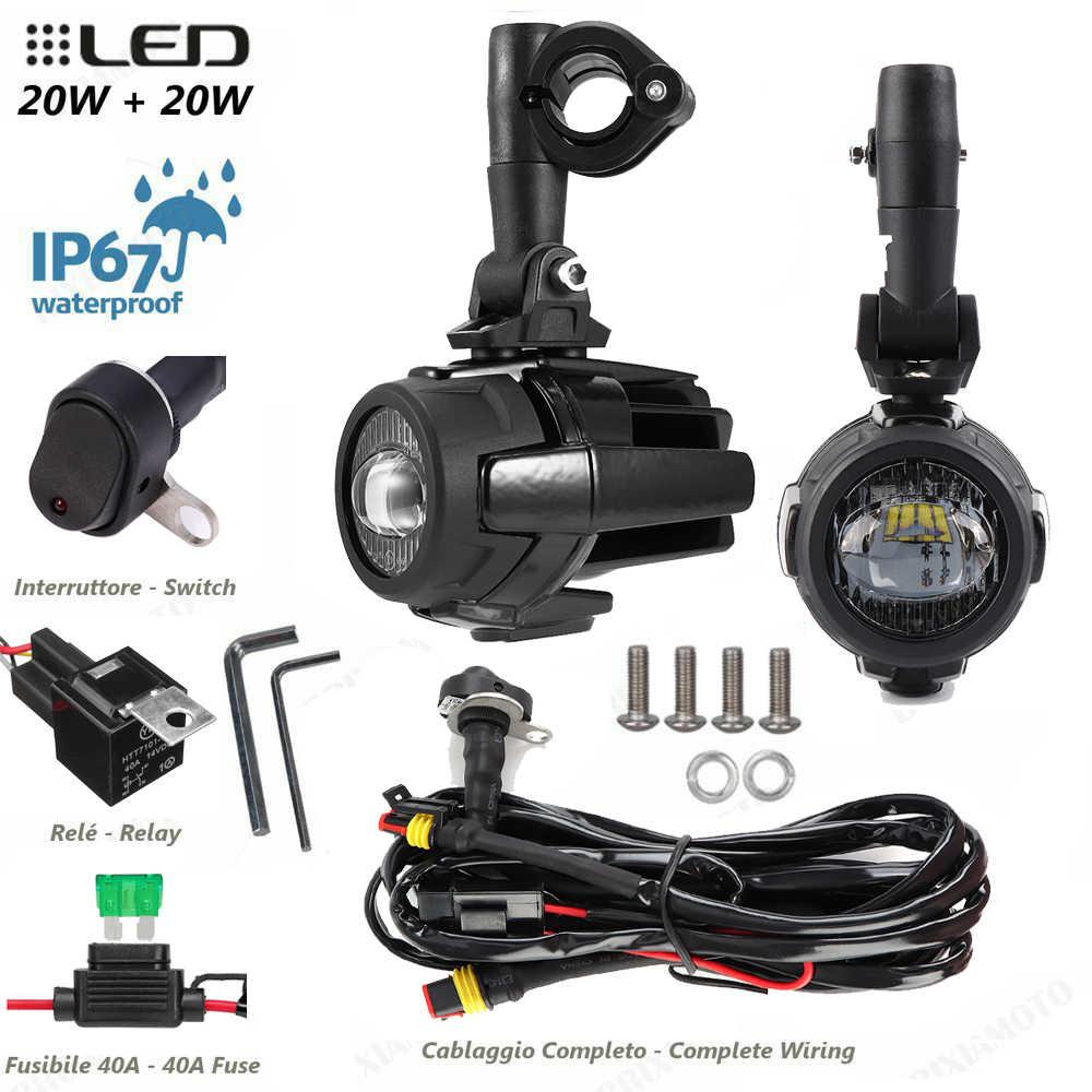 مجموعة مصابيح الضباب LED للدراجات النارية R1200GS بقوة 40 واط للتجميع المساعد لـ BMW R1200GS F850GS F750GS F 850GS 750GS 1250GS GS المغامرات