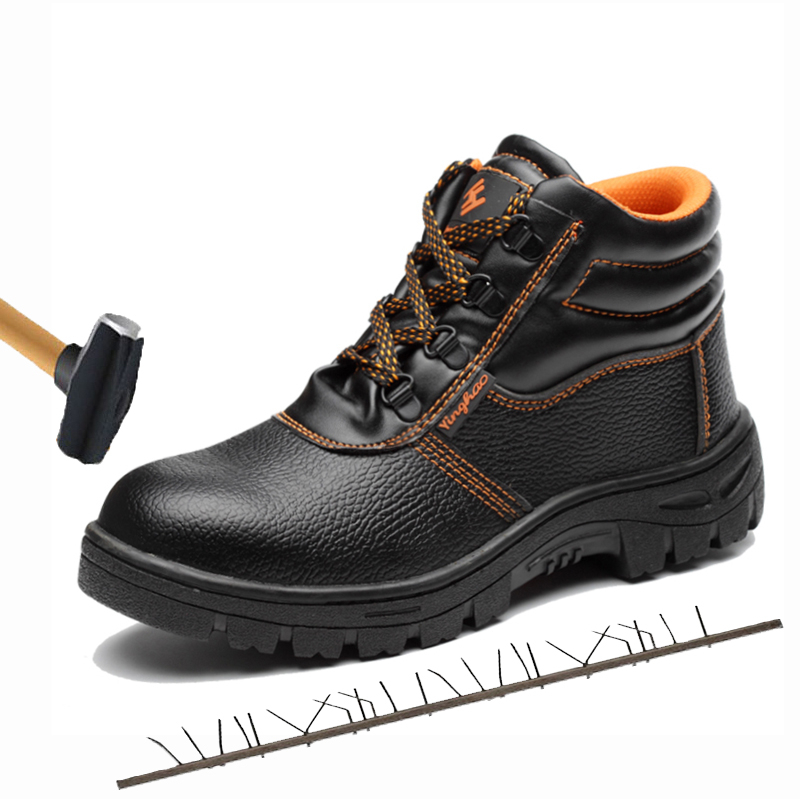 2019 Military Combat Men's High Top Steel Toe Cap Anti Smashing Work Boots Shoes Men Iron Nose Anti-puncture Safety Shoes