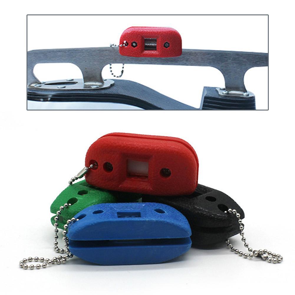 White Sandstone Ice Hockey Shoe Sharpener Double Side Sharpener Portable Sharpener With Adjustable Size Team Sports Accessories