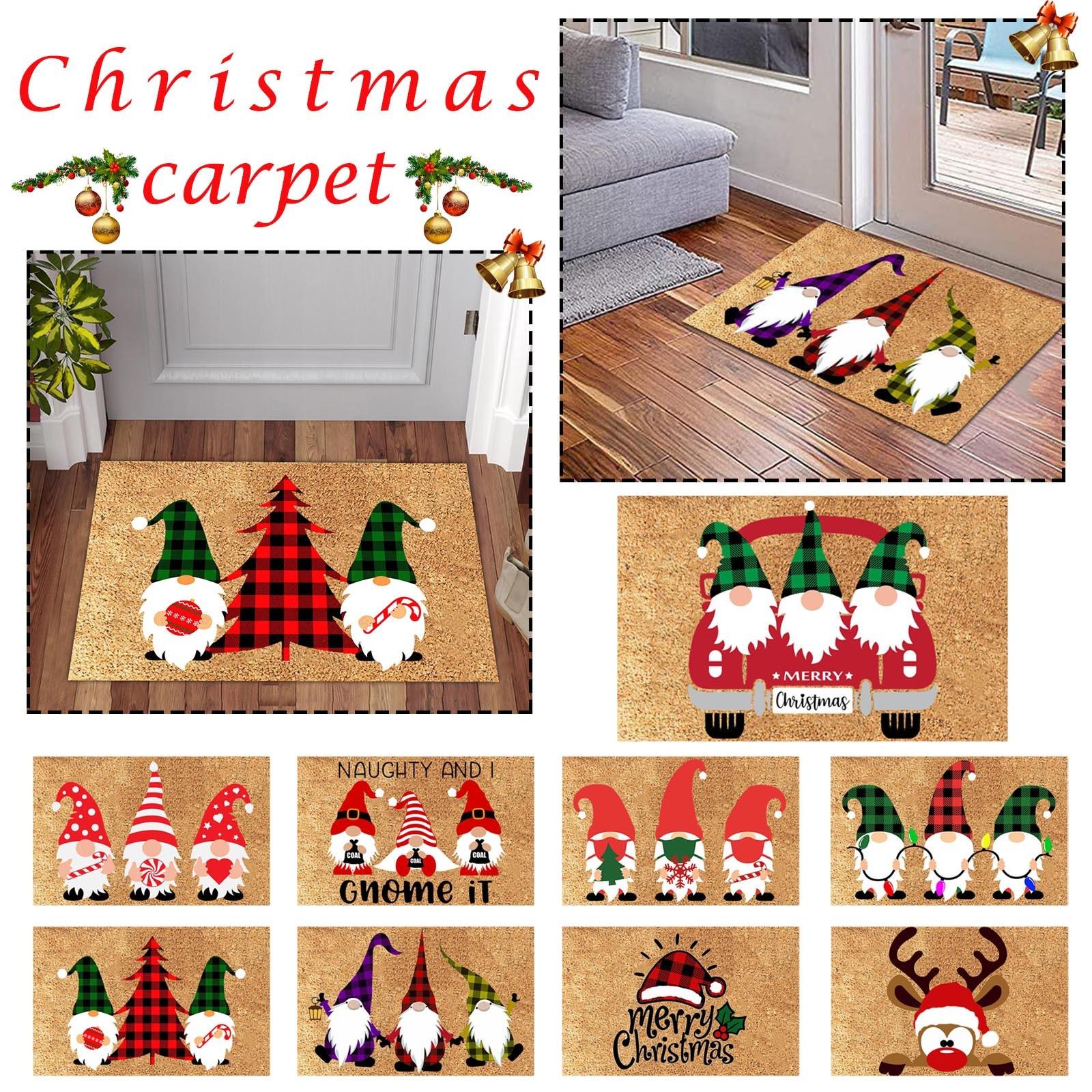 Christmas Doormat Blanket Welcome Home Front Door Decorations Home Holiday Party Dwarf Decoration Doormat Ковровая Дорожка