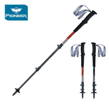 2Pcs/lot Pioneer Nordic Walking Poles Hiking Stick Carbon Fiber Light Telescopic Trekking Pole Cane Accessories