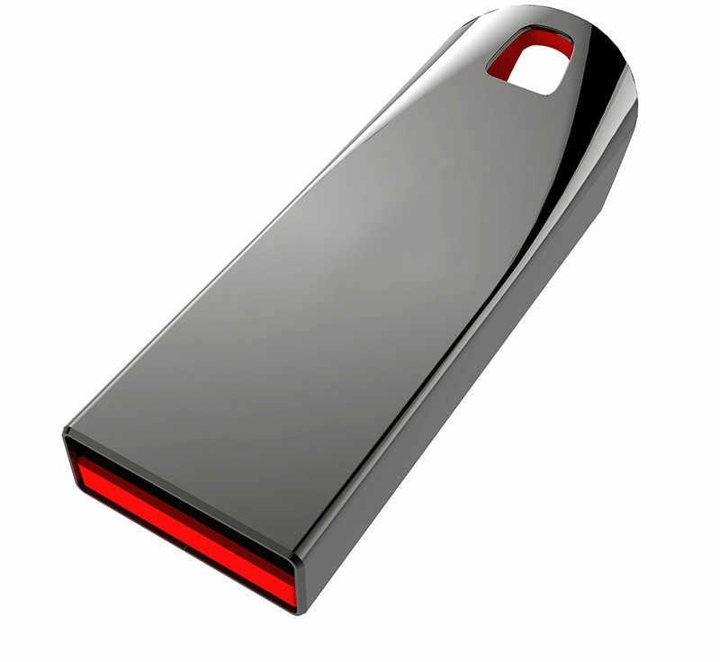 USB флеш-накопитель из нержавеющей стали 32 Гб 64 Гб 128 ГБ флеш-накопитель 8 ГБ 16 ГБ флеш-накопитель USB 2,0 карта памяти U диск