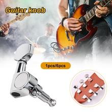 SDENSHI 6pcs Guitar String Button Tuning Peg Key Tuners For Wooden Folk Guitar Parts
