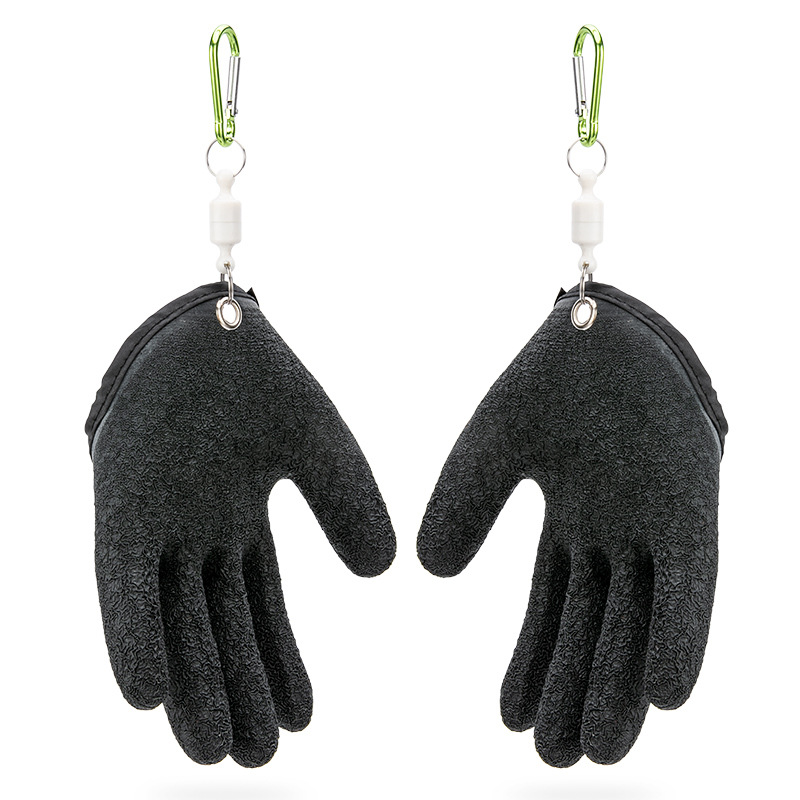 1Pc Anti Skid Latex Glove Men Fishing Catching Professional Puncture-proof High Quality Glove With Strong Magnetic Buckle