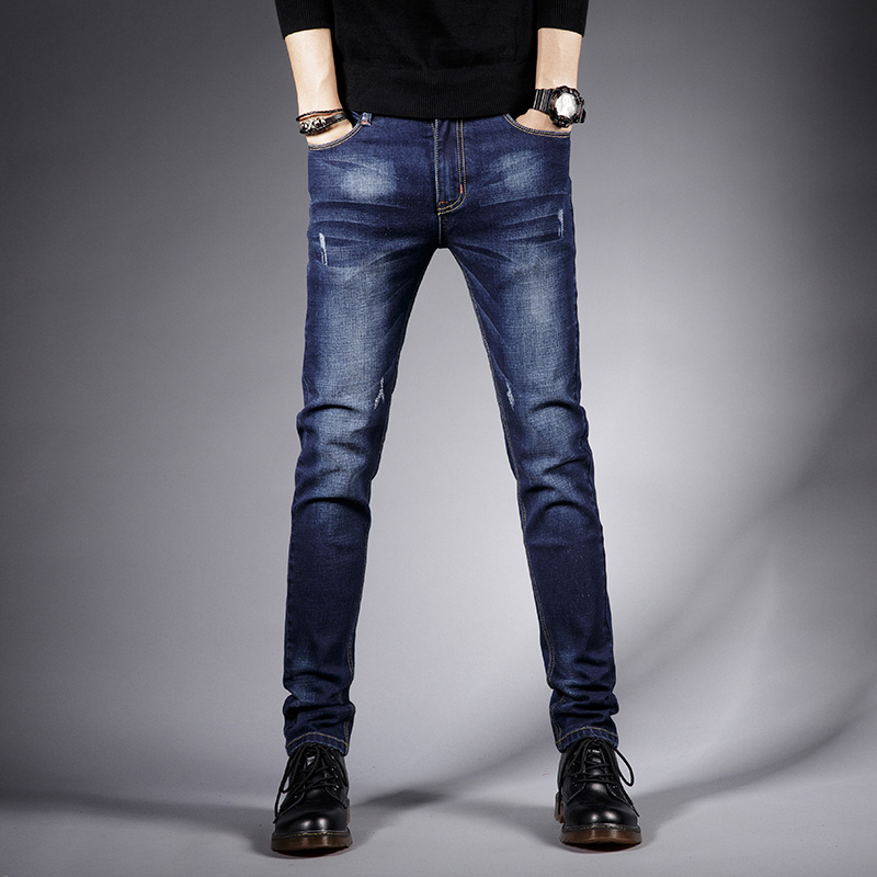 Classic Trousers Jeans Male Streetwear Autumn Denim Jeans Pants  Jeans For Mens Slim Fit Designer Casual Skinny Straight MOOWNUC