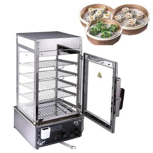500 commercial electric steamer four-sided tempered glass commercial electric steamer head bread head steamer steamer 1200w