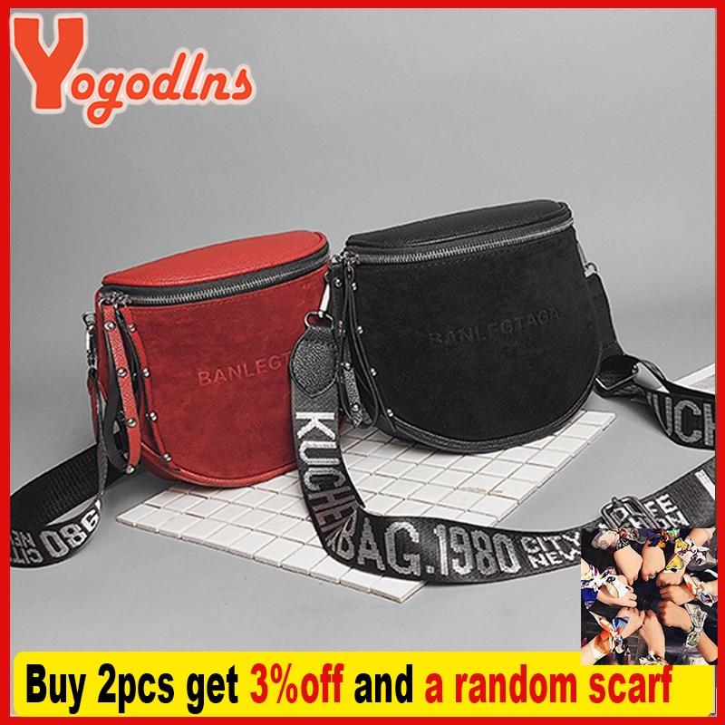 Yogodlns Fashion Women Small vintage Lady Semicircle Saddle Shouder Bag Bucket Bags Crossbody Tote Bag Females casual Bag 2