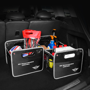 Car Trunk Organizer Box Multi-Pocket Universal Adjustable Folding Storage High Capacity Trunk Stowing & Tidying BMW MINI Cooper new car multi pocket organizer black trunk toy food folding storage truck cargo container bag box auto accessory stowing tidying