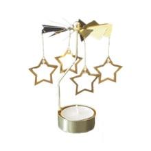 Candelabros giratorios de Metal para mesa de fiesta, té, candelabro, candelabro, soporte de vela, regalo creativo, decoración, Hogar Moderno